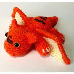 Knitted toy Little Dragon