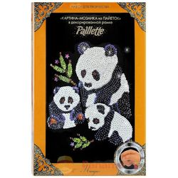 "Painting from sequins ""PANDAS"""