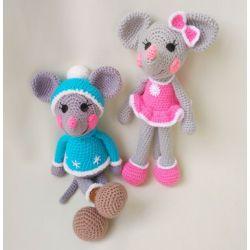 Вязаные игрушки Веселые Мышки набор