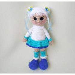 "Crochet doll ""North Girl"" white"