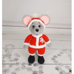 Amigurumi Santa Claus Mouse buy