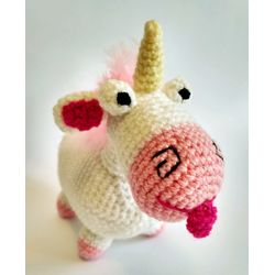 Knitted toy Unicorn Fluffy buy
