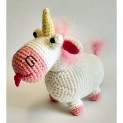 Knitted toy Unicorn Fluffy