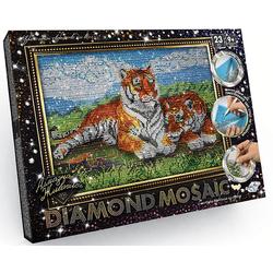 Тигры - алмазная живопись, набор для творчества