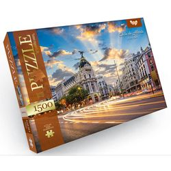 Calle de Alcala, Madrid, Spanien - 1500 Teile Puzzle