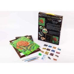 Роза и бабочка - алмазная живопись набор купить