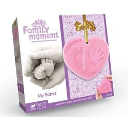 "Gift set ""Family moment""  for footprint or handprint of a baby"