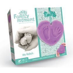 """Set """"Family moment""""  for footprint & handprint of a baby boy"""