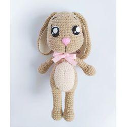 Jouet tricoté Le Lièvre avec votre propre nom acheter pour les enfants