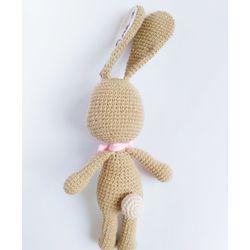 Jouet tricoté Le Lièvre avec votre propre nom acheter