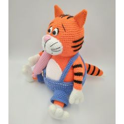 Knitted toy Cat Basil for a child 3 years buy