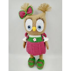 "Knitted toy for girl 5 years ""Owl"" amigurumi buy"