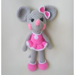 Amigurumi Mouse-girl pink