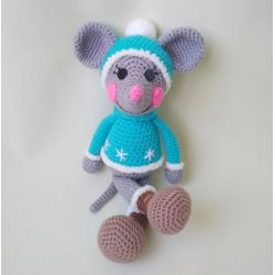 Amigurumi Mouse-boy toy