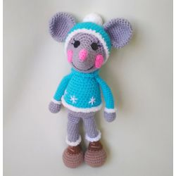 Амигуруми Мышка-мальчик