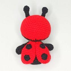 Crochet Ladybug Toy back
