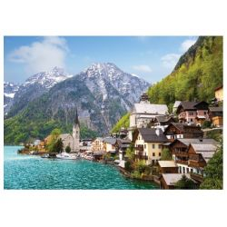 Ville alpine, Hallstatt, Autriche, Série de puzzle classique 1500 pièces