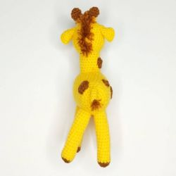 Handmade crocheted Giraffe toy, back