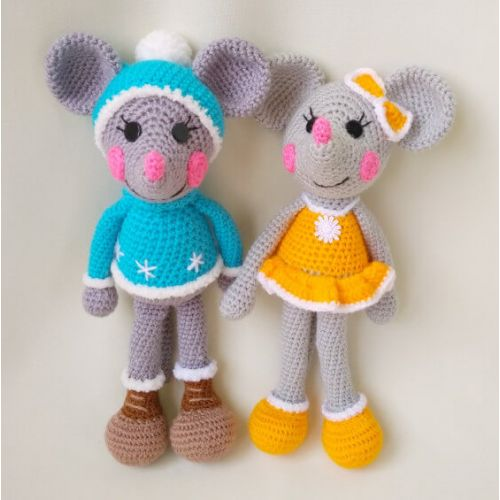 Amigurumi Crochet Mouse Toys, kit