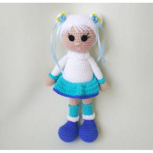 """Crochet doll """"North Girl"""" white"""