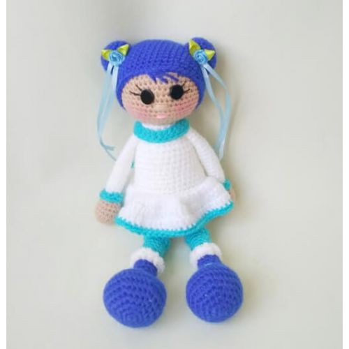 "Crochet doll ""North Girl"" blue"
