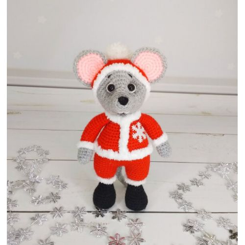 Amigurumi Santa Claus Mouse buy