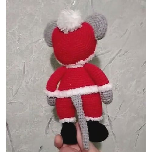 Amigurumi Crochet Santa Claus Mouse Toy