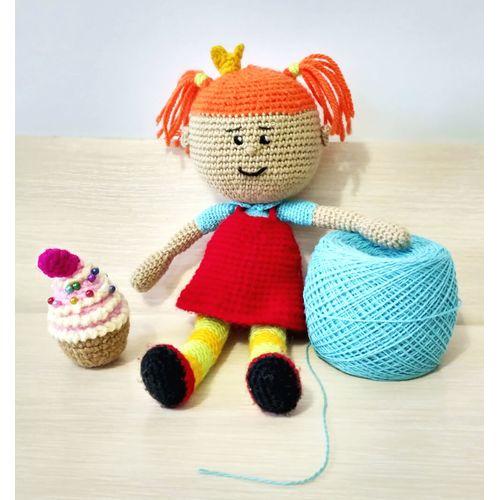 Knitted doll Tsarevna buy