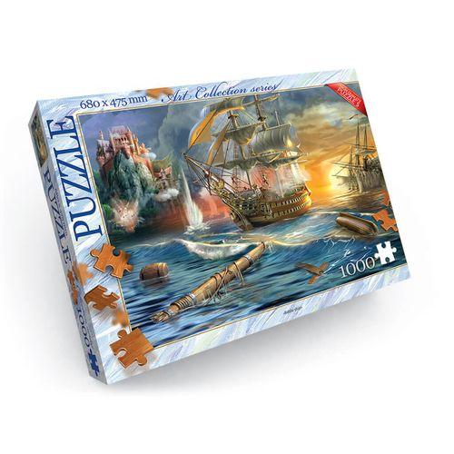 1000 элементов пазлы - Морской бой