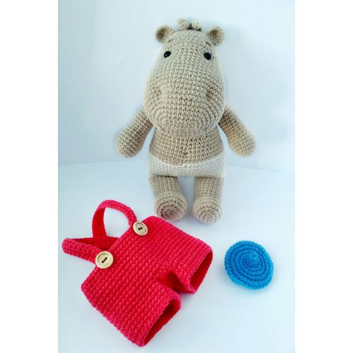 Jouet tricoté HIPPO TIMA de dessin animé acheter pour les enfants