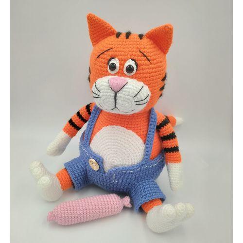 Вязаная игрушка Кот Василий для детей