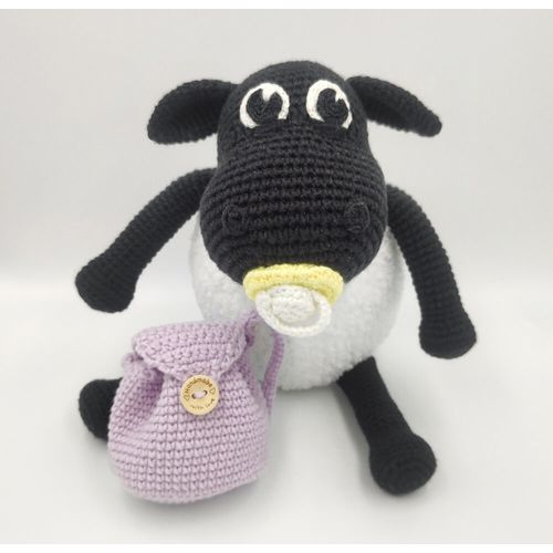 Amigurumi Sheep Timmy Time toy for kids over 1 year