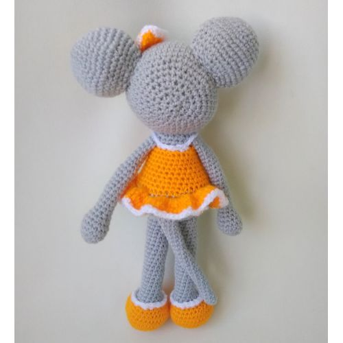 Crochet Mouse-girl toy