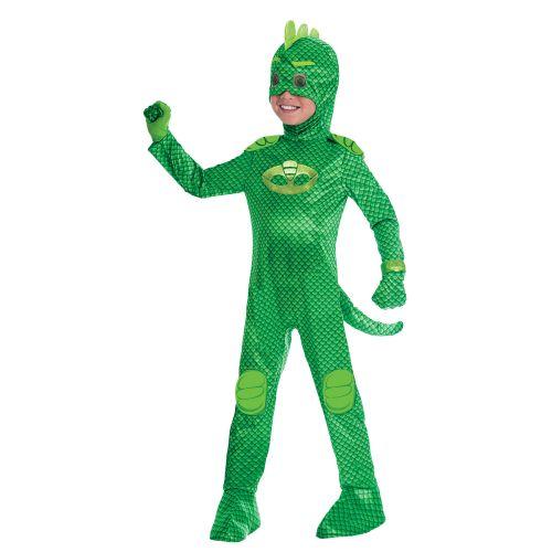 PJ Masks Gecko Lizenzkostüm für Kinder grün