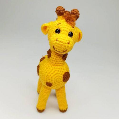 Handmade crocheted Giraffe toy, amigurumi