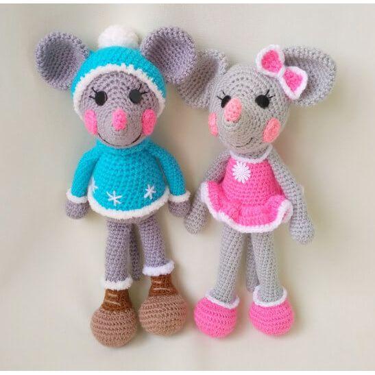 Crochet mice amigurumi | Amigurumi gratis mönster, Virkade dockor ... | 547x547